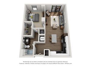 Aertson Midtown - One Bedroom Apartment in Nashville, TN