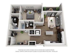 Aertson Midtown One Bedroom Apartment In Nashville Tn