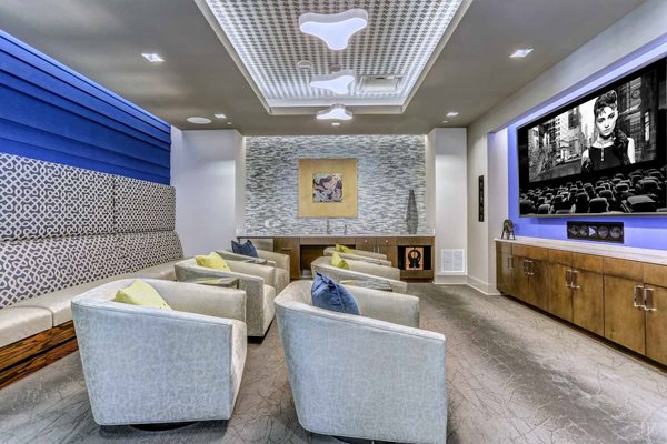 Aertson Midtown - Luxury Apartments in Nashville - Theater Room