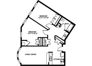 2 Bedroom Medium A