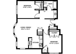 2 Bedroom Medium B