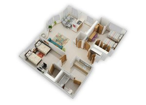 2 Bedroom Medium C
