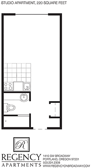 Studio A Floor Plan 1