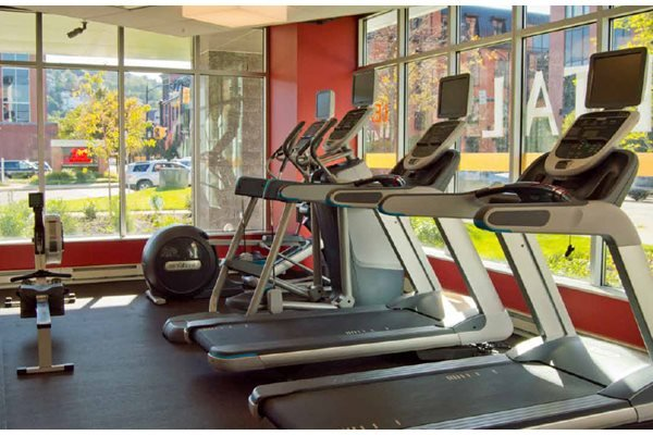 Fitness Center, Hot Metal Flats apartments, Pittsburgh, PA