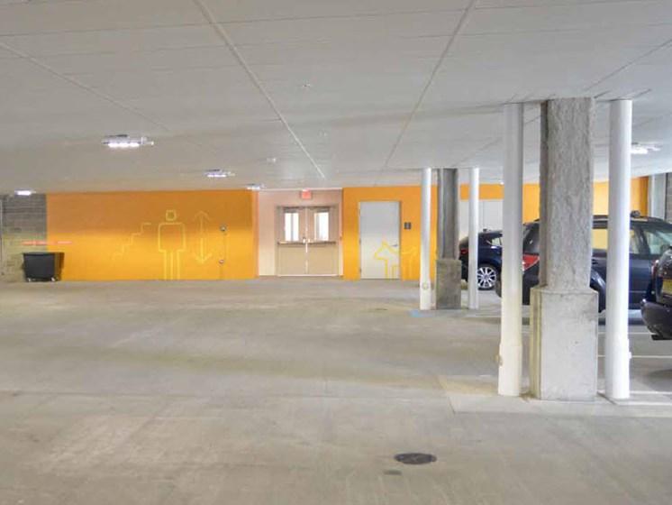 Parking Garage, Hot Metal Flats apartments, Pittsburgh, Pennsylvania 15203