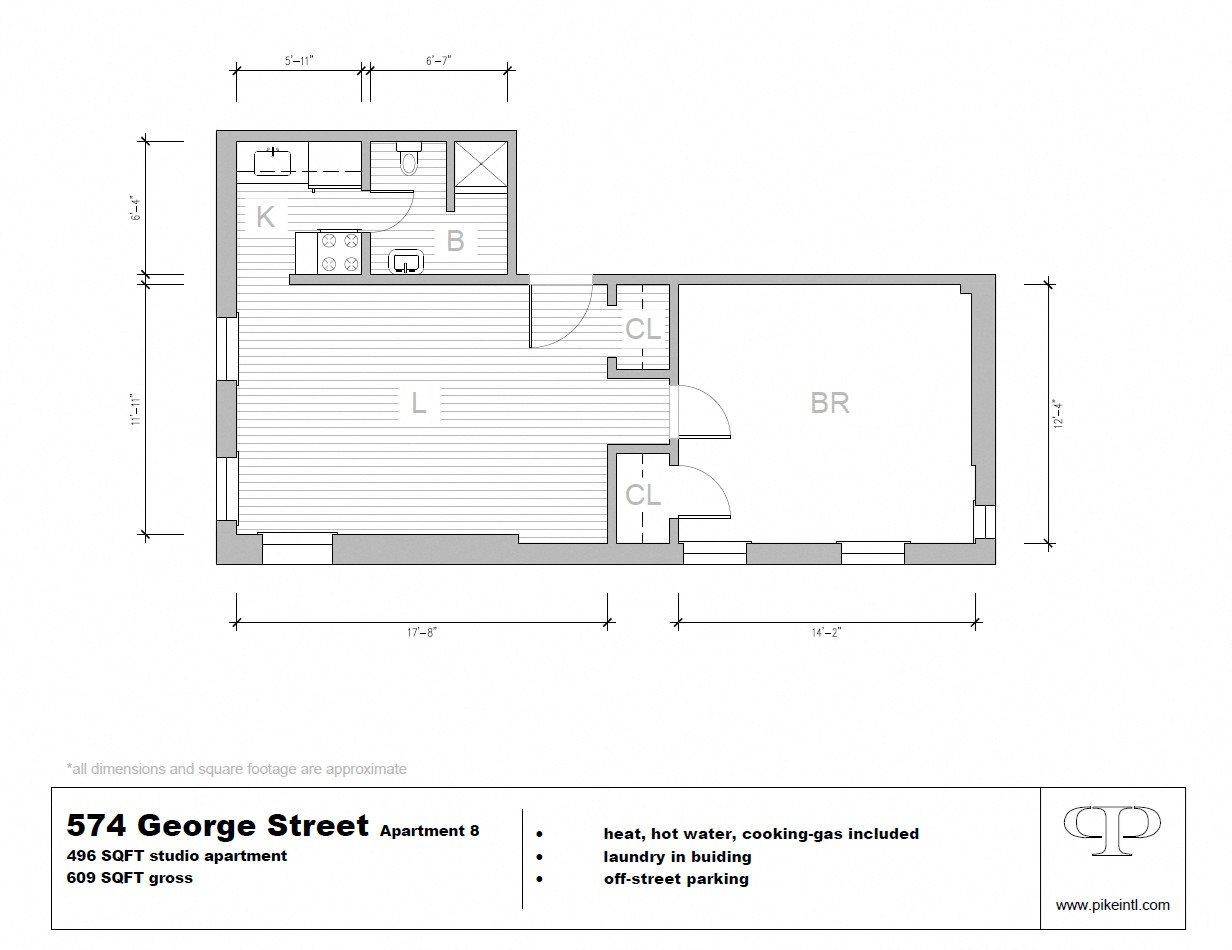 1 Bedroom Floor Plan 2