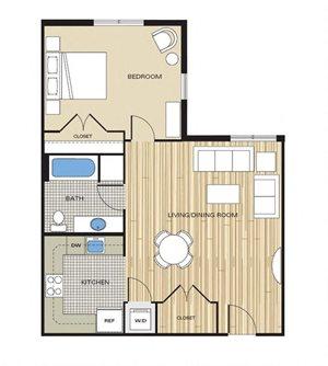 1 bedroom apartment with den alexandria va
