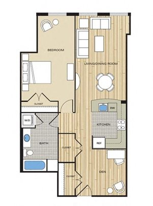 apartments with one bedroom and den in alexandria va