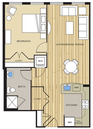 1 bedroom apartments in old town alexandria