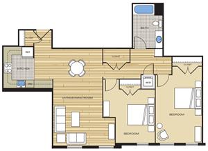 two bedroom loft apartments old city alexandria va