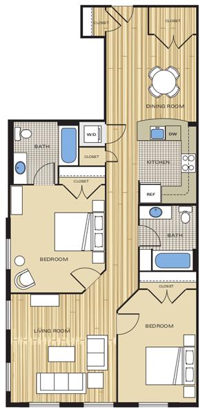 two bedroom apartment in alexandria