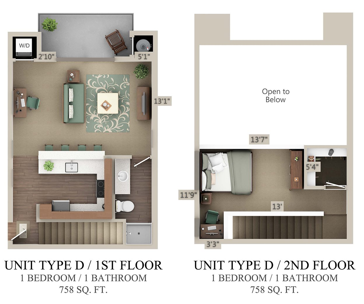 Type D Loft Floor Plan 1