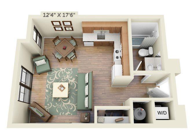 Upper Level Studio Floor Plan 2