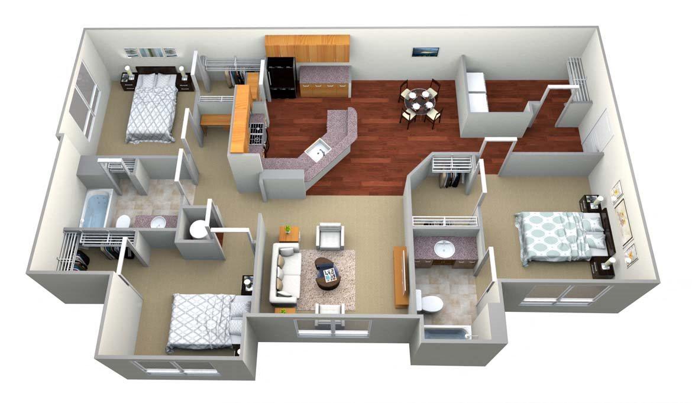 Floor plan at Walton Oaks, Augusta, 30901