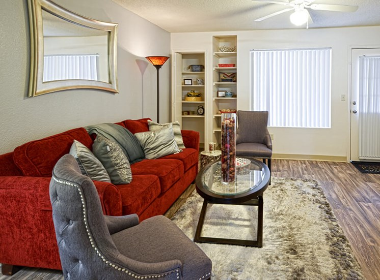 Built in storage of Pavilions at Pantano in Tucson, AZ, For Rent. Now leasing 1, 2 and 3 bedroom apartments.