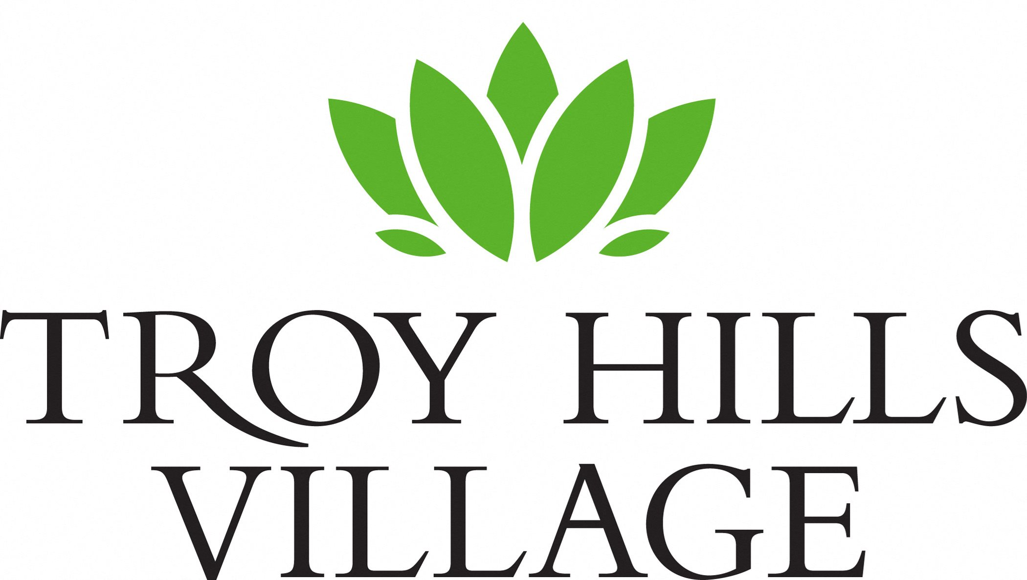 The new logo for Troy Hills Village