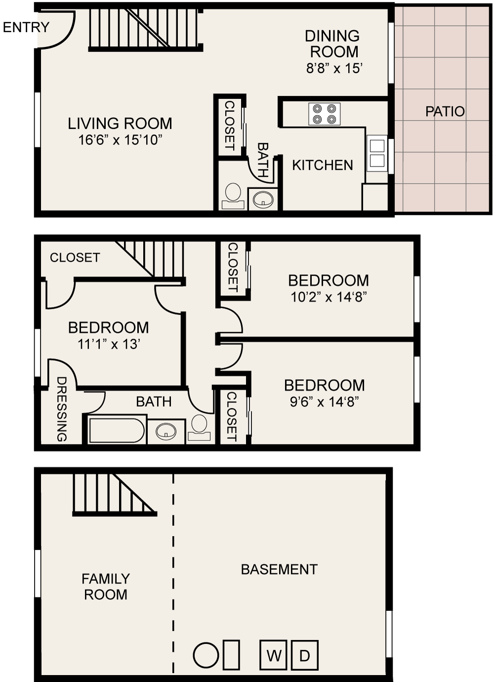 Floor plans of central square apartments in columbus oh - 3 bedroom apartments downtown columbus ohio ...