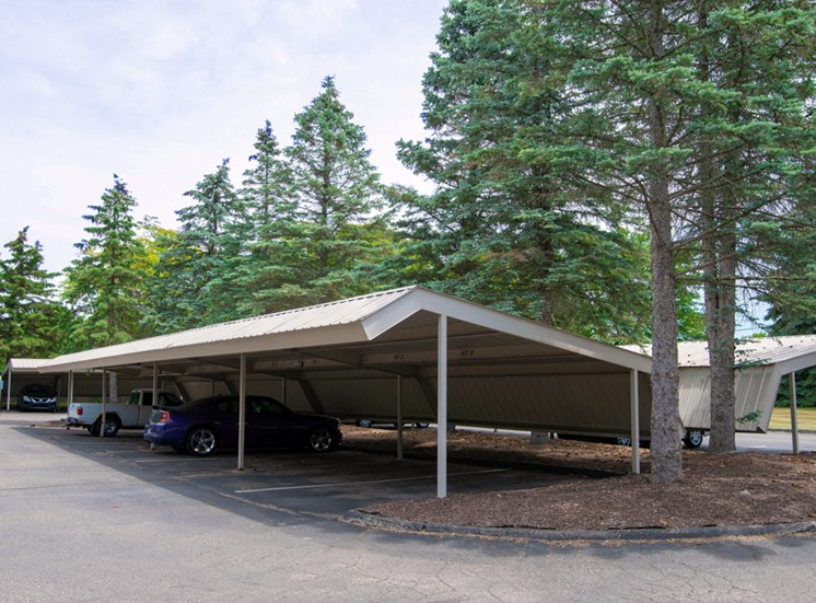 Covered Parking, Ashton Pines in Waterford, MI