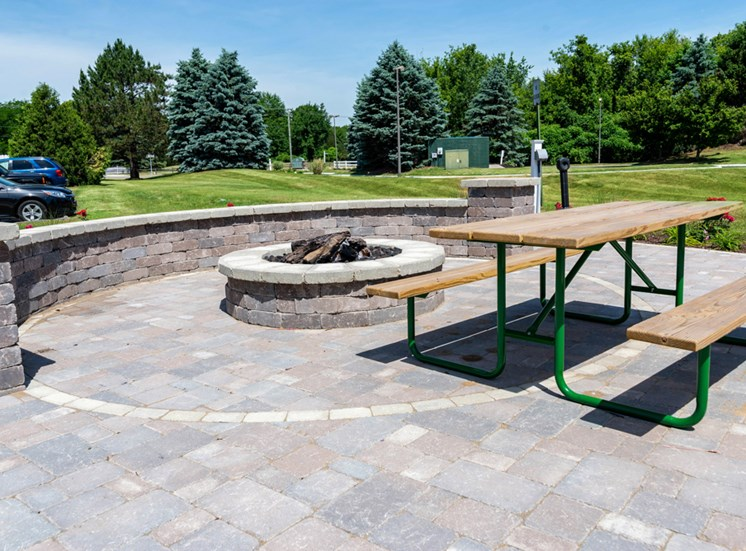 Fire Pit and Picnic Area, Ashton Pines in Waterford, MI