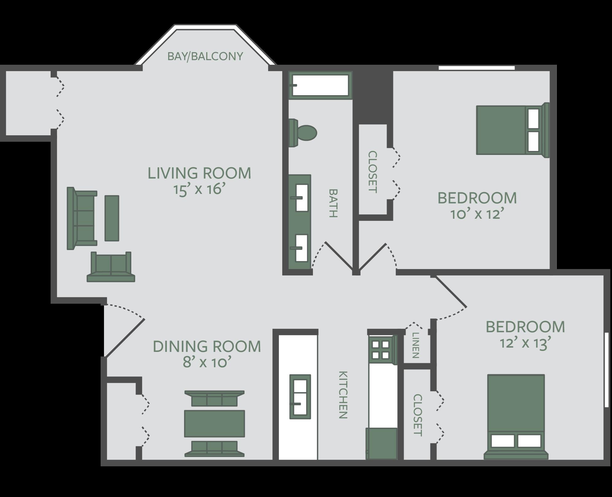 Floor Plans Ashton Pines Apartments In Waterford Mi