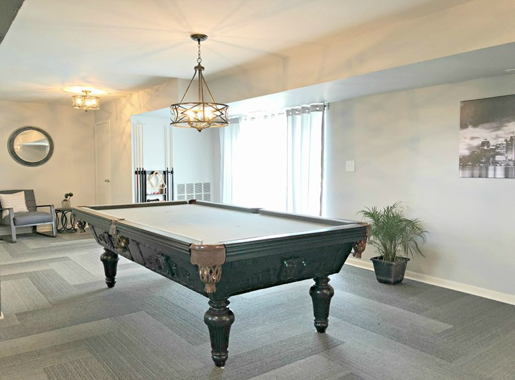 Billiards in Upscale Clubhouse; Kings Gate in Sterling Heights, MI