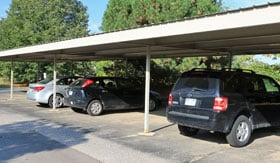 Carports at Lancaster Lakes Apartments in Clarkston