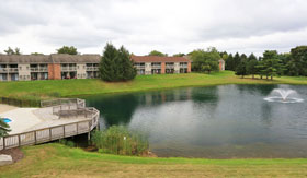 Pond at Apartments in Clarkston