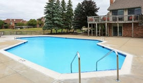 Outdoor Pool at Lancaster Lakes Apartments in Clarkston