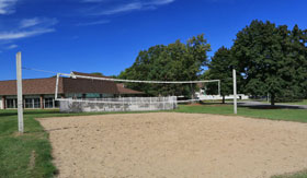 Sand Volleyball Castle Pointe Apartments in East Lansing