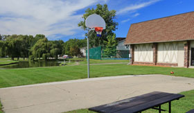Basketball Court at Apartments in East Lansing