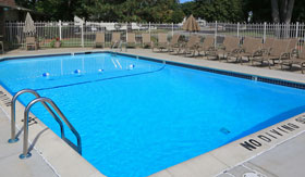 Outdoor Pool at Castle Pointe Apartments in East Lansing