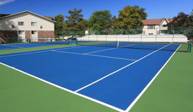 Teenis Courts at Apartments in East Lansing