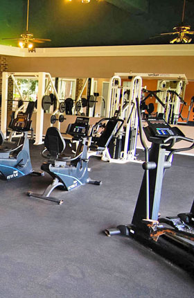Fitness Center at apartments in East Lansing