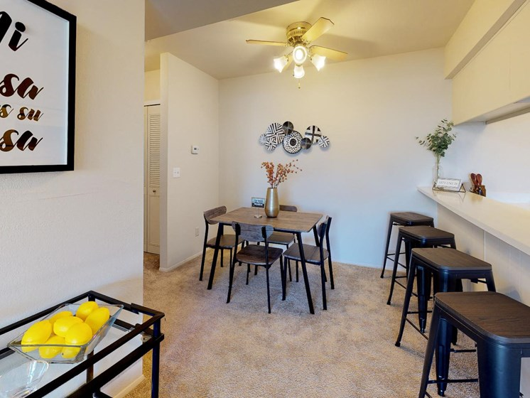 Spacious Dining Area at Castle Pointe Apartments in East Lansing, MI