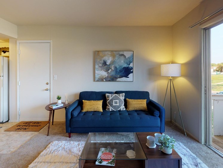 Bright Living Space at Castle Pointe Apartments in East Lansing, MI