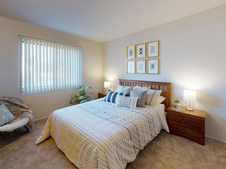 Large Bedrooms at Castle Pointe Apartments in East Lansing, MI