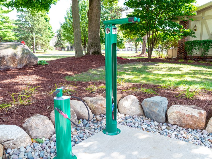 Bike Repair Station At Castle Pointe Apartments, East Lansing, MI