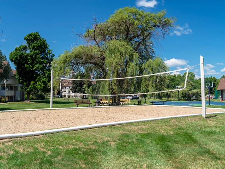 Sand Volleyball At Castle Pointe Apartments, East Lansing, MI