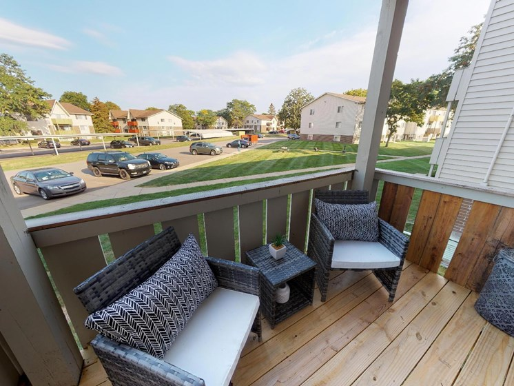 Large Balcony at Castle Pointe Apartments in East Lansing, MI