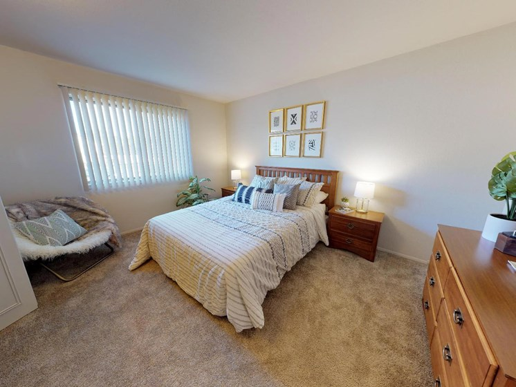 Large Bedroom at Caslte Pointe Apartments in East Lansing, MI