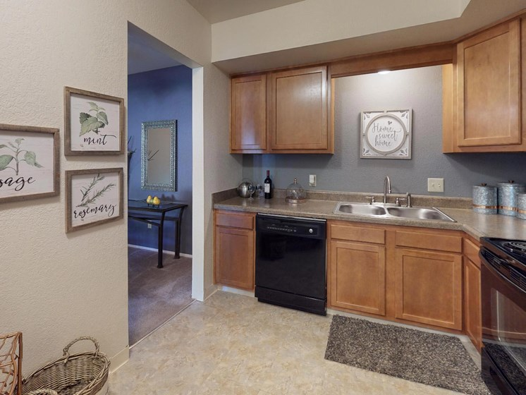 Large Kitchens at Castle Pointe Apartments in East Lansing, MI
