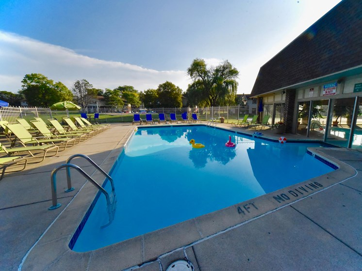 Great Outdoor Pool at Castle Pointe Apartments in East Lansing, MI