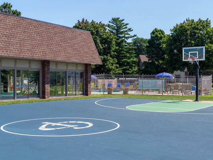 basketball court at apartment community