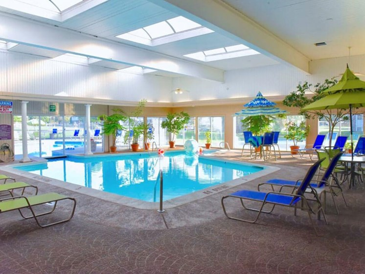 Heated Indoor Pool at Castle Pointe Apartments