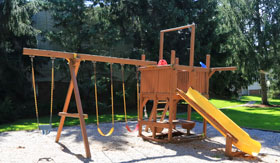 Playground at Apartments in Haslette