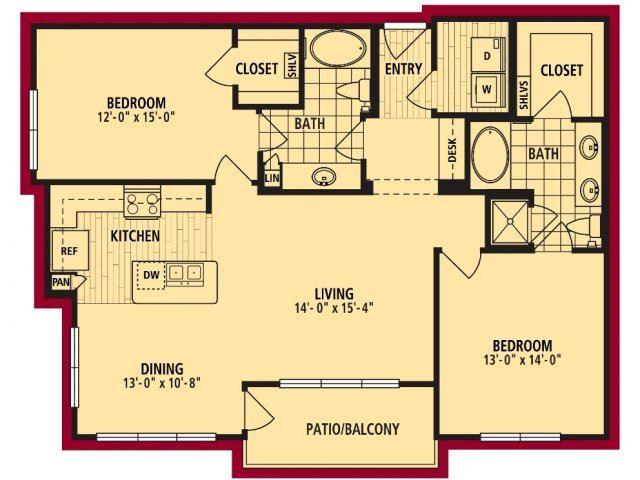 Bello Floorplan 1243 sf