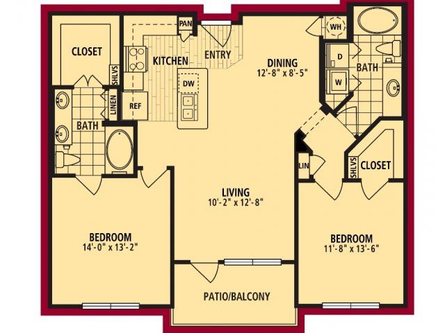 Dolcetto Floorplan 1103 sf