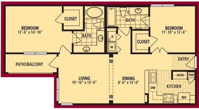 Verona Floorplan 1074sf