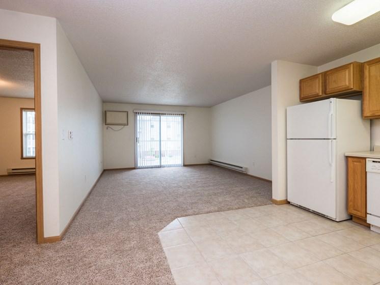 Stonebridge Apartments | 1 Bedroom Plan B | Kitchen | Living Room