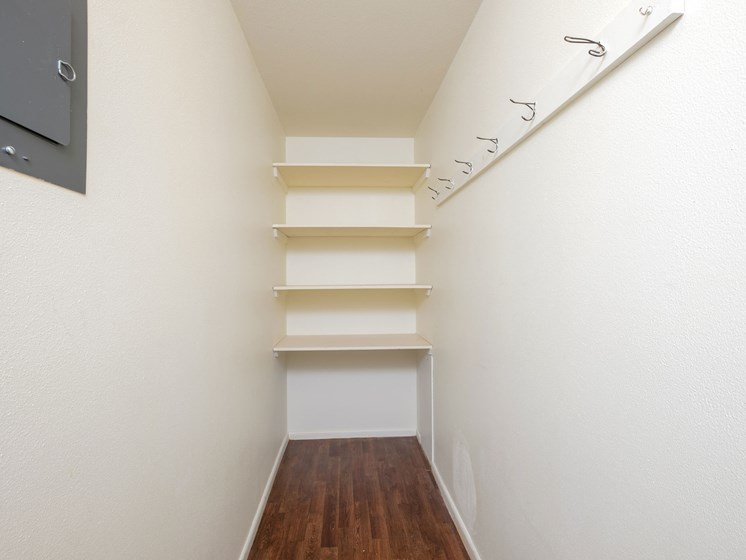 Country Club Apartments | 2 Bedroom Plan A | Storage Closet